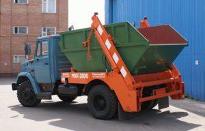 Вывоз мусора контейнерами 8 кубов