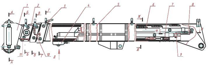 Устройство автокрана КС-55727 на шасси МАЗ-6303: схемы, описание, конструкция