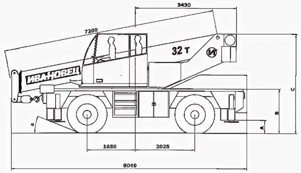 Автокран КС-59713: модификации, технические характеристики, грузоподъемность, длина стрелы