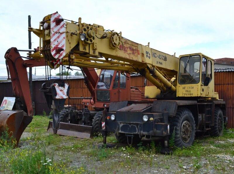 Краны КС-4372Б и КС-4372В: технические характеристики, вес, грузоподъемность, фото, описание