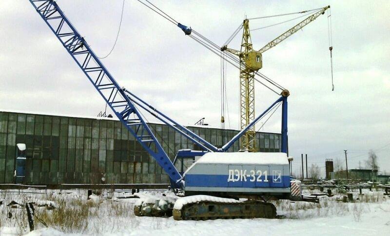 Кран ДЭК-321: технические характеристики, грузоподъемность, длина стрелы