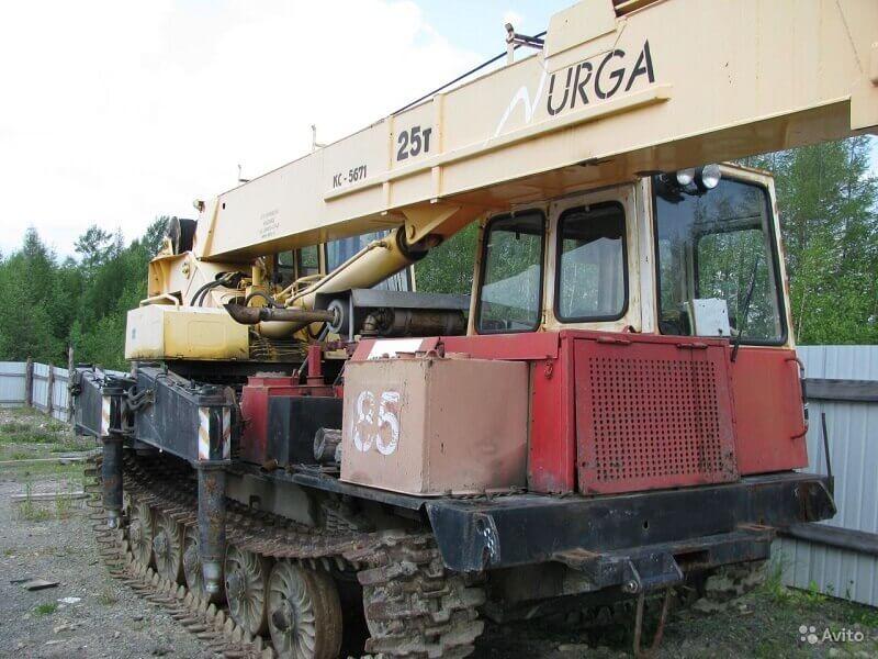 """Кран КС-5671 """"Юргинец"""": технические характеристики, вес, длина стрелы, фото, грузоподъемность"""