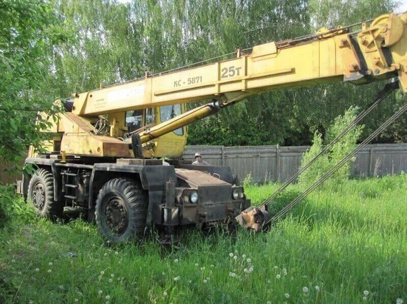 Кран КС-5871: технические характеристики, фото, вес, грузоподъемность, длина стрелы