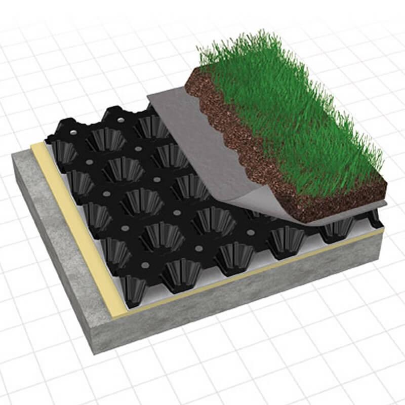 Дренажная профилированная мембрана: современный способ сделать гидроизоляцию дорожек, фундамента, кровли и стен